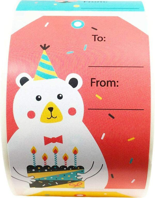 Birthday Gift Labels and Tags: Birthday Labels Stickers