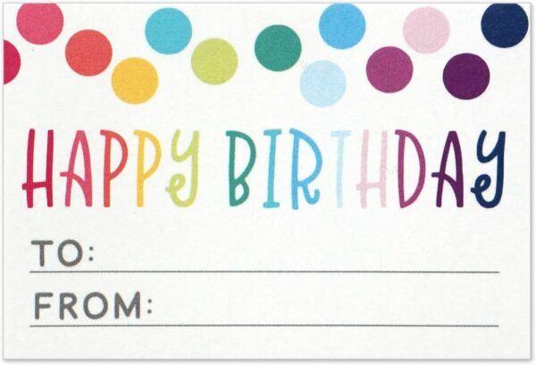 Birthday Gift Tag Sticker