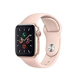 Gifts That Are Pink: Apple Watch Series 5 (GPS, 40mm) - Gold Aluminum Case with Pink Sport Band