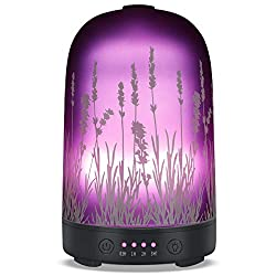 Gifts That Are Purple: Aromatherapy Essential Oil Diffuser 120ml Glass Purple