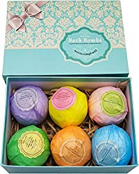 6 Bath bombs different colors in gift box