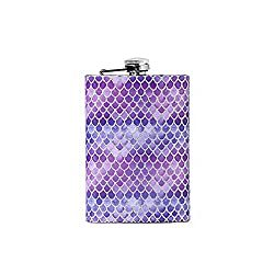 Gifts That Are Purple: Mermaid 8oz hip stainless steel flask