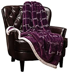 Gifts That Are Purple: Sherpa Microfiber Comfort Gift Throw
