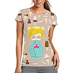 Women's T Shirts,Japanese