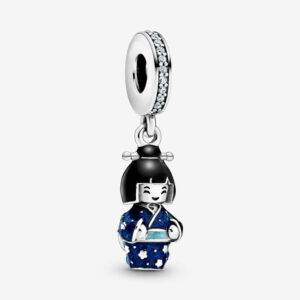 Japanese Doll Collection Charm Blue