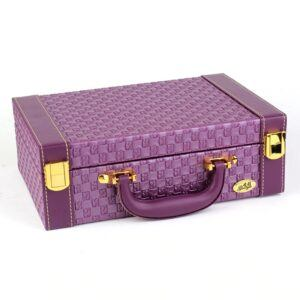 Gifts That Are Purple: Fashion Style Leather Jewelry Box