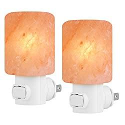 2 Pack Himalayan Salt Night Light Cylinder Shape