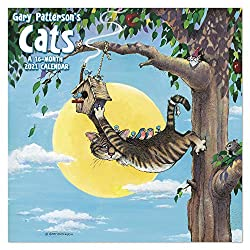 "2021 Gary Patterson's Cats Wall Calendar, 12"" x 12"", Monthly"