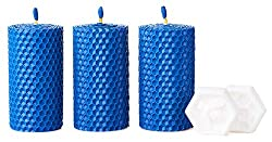 3 Pillar 100% Beeswax Candles with Natural Honey Scent
