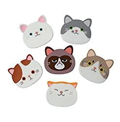 Cat Cup Mat Silicone Rubber Coaster