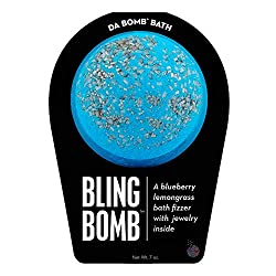 Gifts That Are Blue For Women Da Bomb Bling Bath Bomb, Blue