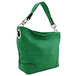 Gifts That Are Green: Hobo Shoulder Bag with Big Snap Hook