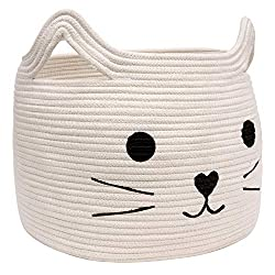 Large Woven Cotton Rope Cat Storage Basket