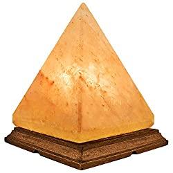 Pyramid Himalayan Salt Lamp with Bulb, Dimmer Cord