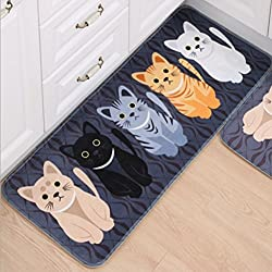 Rectangle Cats Mat Rug