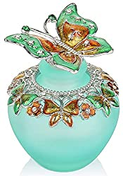 Gifts That Are Green: Retro Frosted Green Butterfly Lid Perfume Bottle