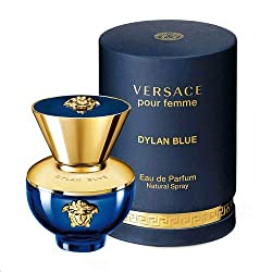 Versace Dylan Blue Pour Femme for Women Eau De Parfum Spray, 3.4 Oz