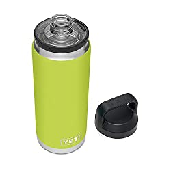Gifts That Are Green: YETI Rambler 26 oz Bottle, Vacuum Insulated, Stainless Steel with Chug Cap Lime Green