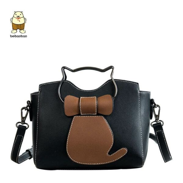 Cat Gifts For Her: 2020 New Lady Small Pu Leather Cute Cat Shoulder Bag