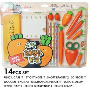 Back to school gifts for kids: Carrot stationary set