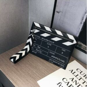 Black & White Fashion Movie Prop Envelope Bag