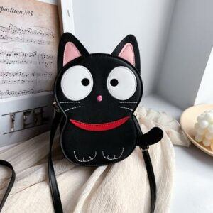 Cute Fun Black Cat Design Casual Shoulder Bag