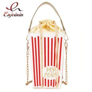 Red Stripe Popcorn Bucket Design