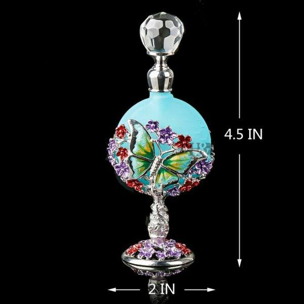 Gifts That Are Blue: Antiqued Style Glass Refillable Perfume Bottle