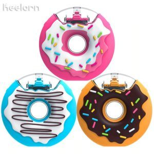 Donut Water Bottle Bpa Free Silicone, Portable, with Straw