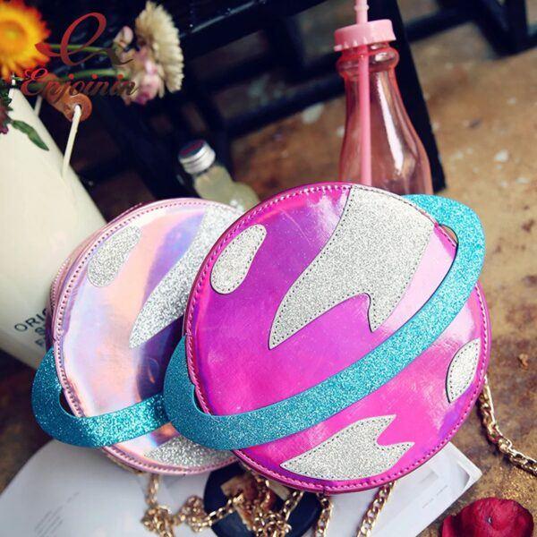 Planet Shape Fashion Shoulder Purse