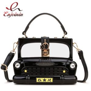 Vintage Car Shape Acrylic Purse