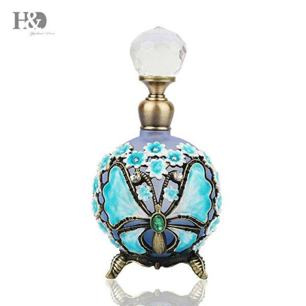 Gifts That Are Blue: Butterfly Antiqued Style Glass Perfume Bottle