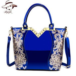 2020 Blue Shoulder and Hand Bag