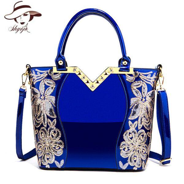 2020 Blue Shoulder and Hand Bag