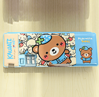 Back to School Gifts For Kids: Pencil Cases: Cute Cartoon Double-Sided, Multifunction,