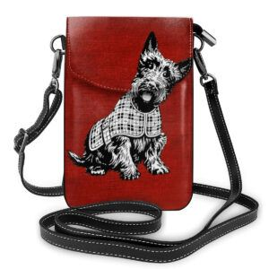 Westie and Scottie Print Shoulder Bags
