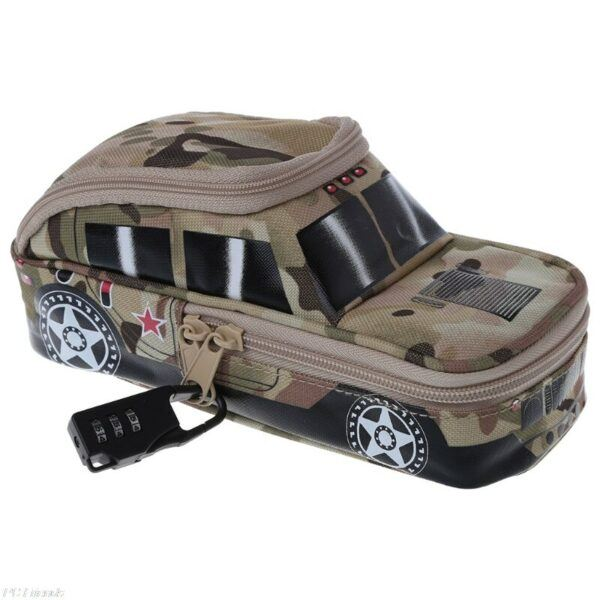 Back To School Gifts For Kids: Camouflage Canvas Vehicle Pencil Case