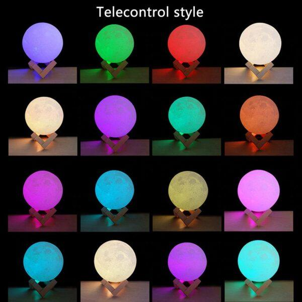 Moon Lamp 2: 16 Color Options With Remote Model B