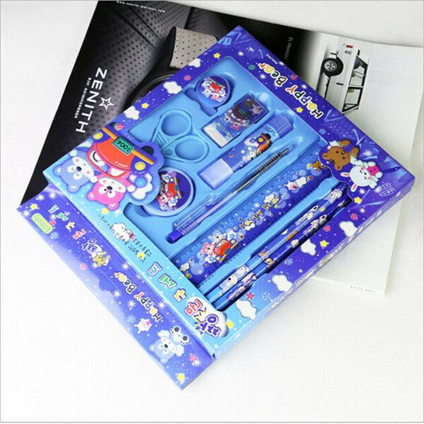 Back To School Gifts For Kids: 9 In 1 Stationery Set for Kids Cartoon