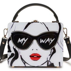 Dazzling Sunglasses Women Print Letter Acrylic Style Designer Bag