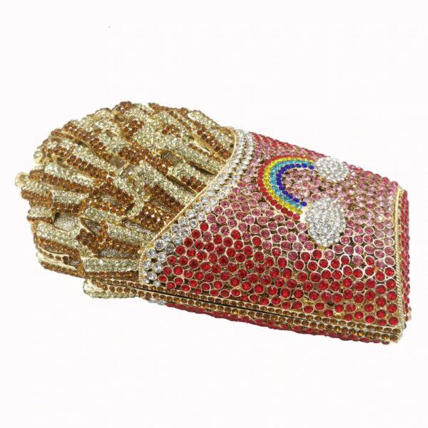 French Fries Crystal Clutch Evening Bag