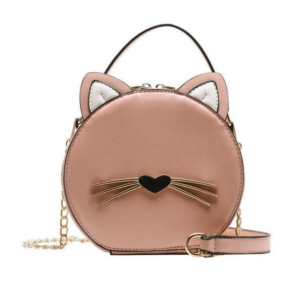 Cute Cat Round Bag High Quality Shoulder Bag