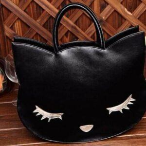 Cat head High Quality PU Leather Handbag