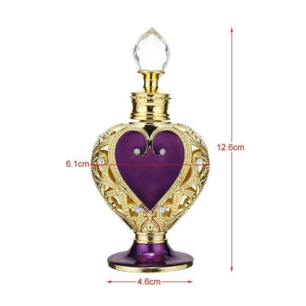 Gifts That Are Purple: Vintage Crystal Purple Heart Metal Perfume Bottle
