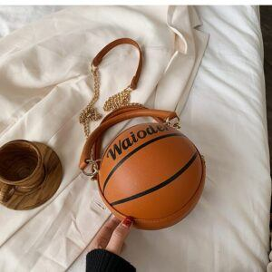 Novelty Purses: Basketball Shaped Shoulder Handbag
