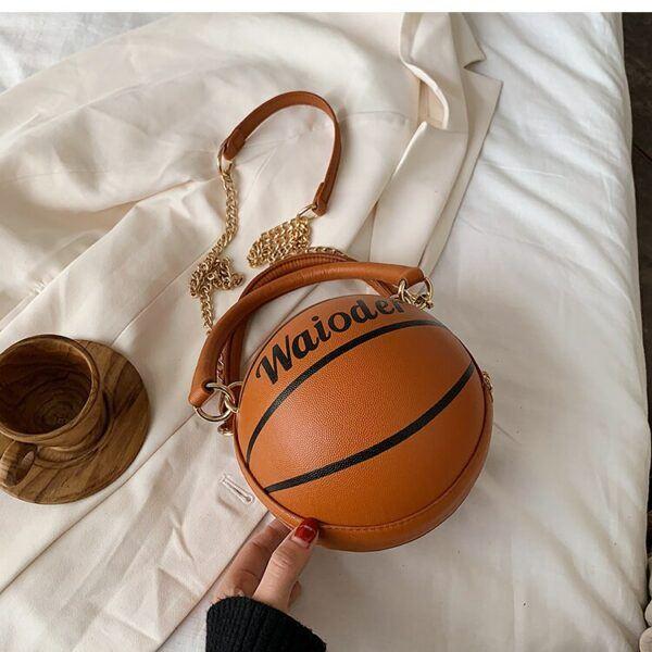 Novelty Purses: Basketball Shaped Shoulder Handbag