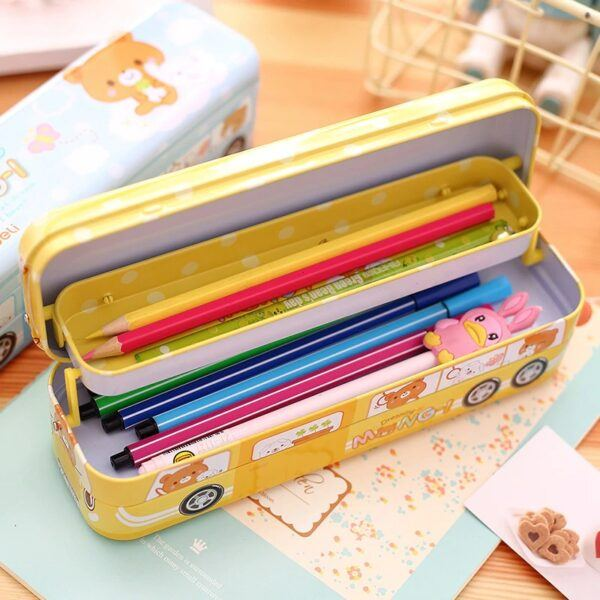 Back to School Gifts For Kids Bus Style Pencil Case