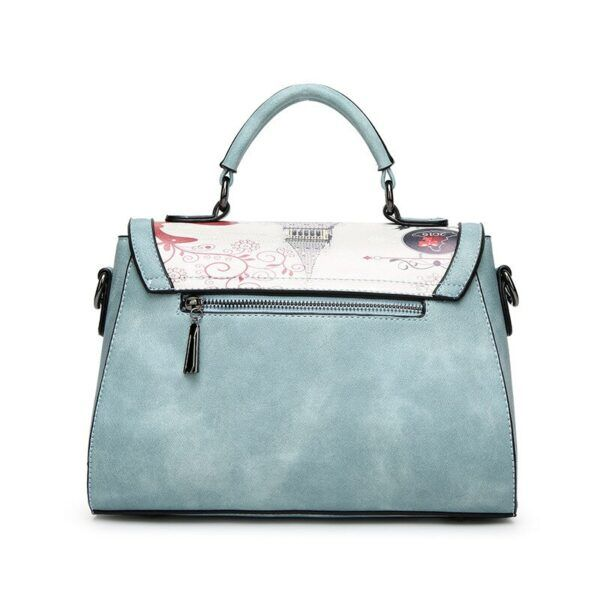 Gifts That Are Blue: Vintage Blue Frosted Shoulder and Hand Bag