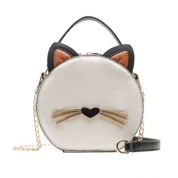 Cute Cat Round Bag High Quality Shoulder Bag
