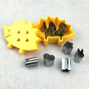 10 pcs set Vegetable/Fruit Mini Shape Cutters In Hedgehog Shape Box